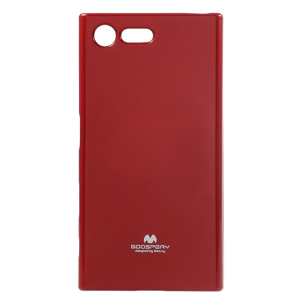 Чехол накладка для Sony Xperia X Compact F5321 силиконовый, MERCURY GOOSPERY, красный