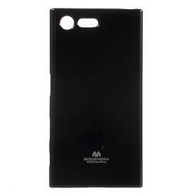 Чехол накладка для Sony Xperia X Compact F5321 силиконовый, MERCURY GOOSPERY, черный
