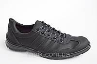 Мокасини кроссовки туфли мужские исскуственная кожа черные 2016. Со скидкой
