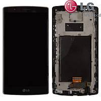Дисплейный модуль (дисплей + сенсор) для LG Optimus G4 H810/ H815 / H818, с рамкой, черный оригинал