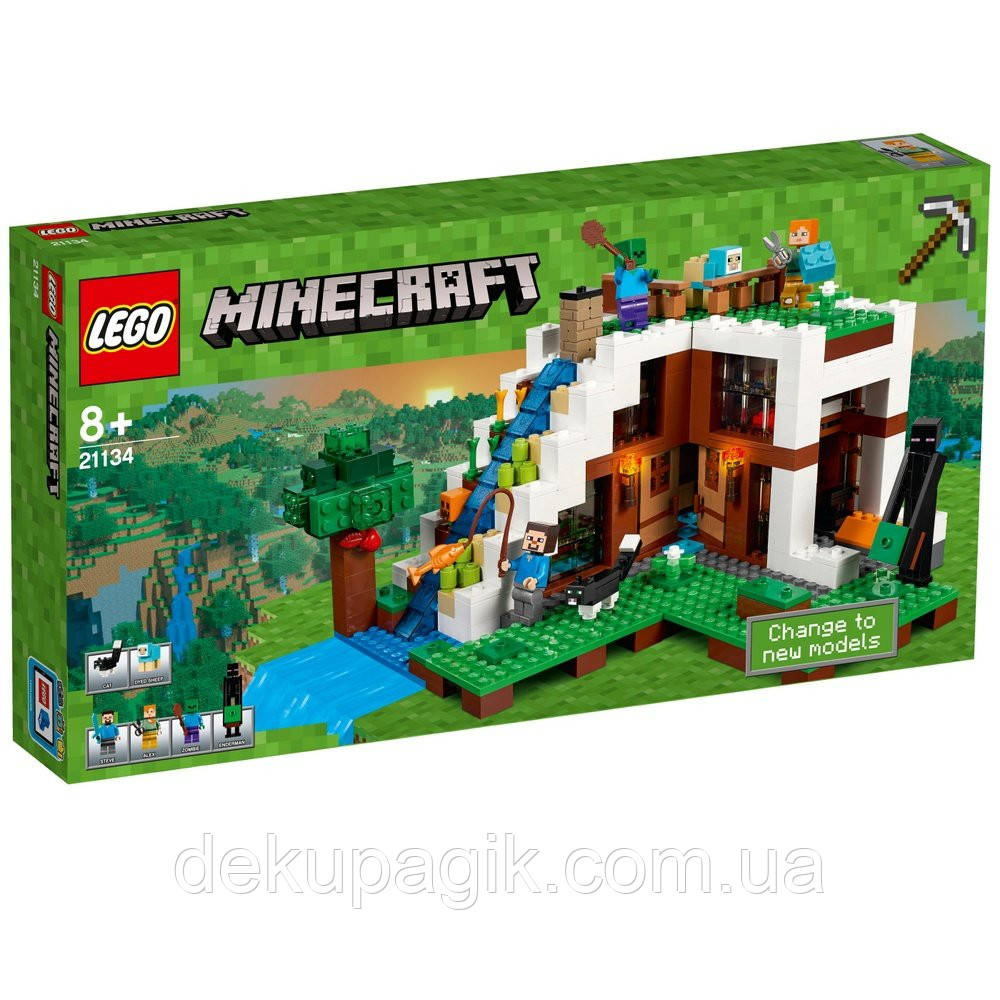 Lego Minecraft База на водопаде 21134