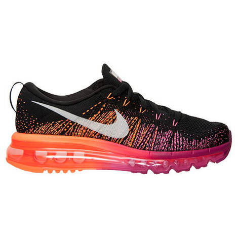 Женские кроссовки Nike Flyknit Air Max Women Pink Black Orange