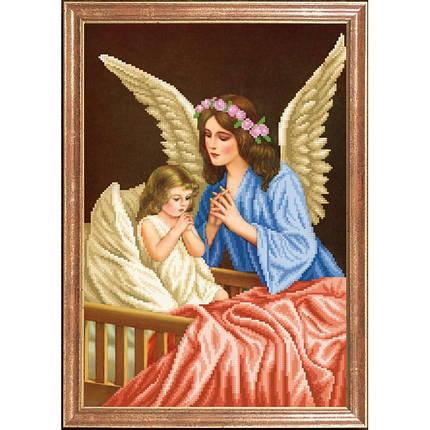 """Рисунок на ткани для вышивания бисером """"Ангел Хранитель"""", фото 2"""