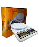 Электронные весы для кухни SF-400 C: до 10 кг, погрешность 1 г, платформа, встроенный термометр