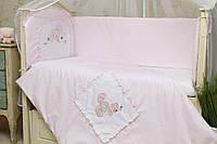 Детский постельный комплект Зайчик GreTa Lux 6 предметов, 3 цвета