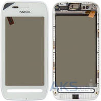 Сенсор (тачскрин) для Nokia 603 with frame Original White