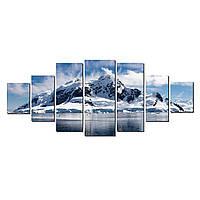 Модульные Светящиеся картины Startonight Белые горы и озеро  , 7 частей