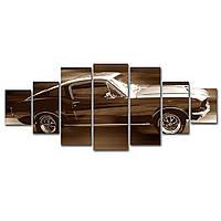 Модульные Светящиеся картины Startonight Ford Mustang на полной скорости, 7 частей