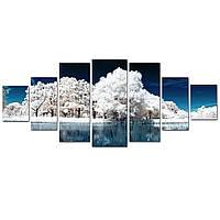 Модульные Светящиеся картины Startonight Замороженный лес, 7 частей