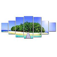 Модульные Светящиеся картины Startonight Тропа к острову, 7 частей