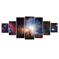 Модульные Светящиеся картины Startonight Удивительный Космос, 7 частей