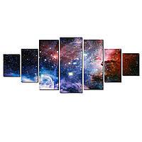 Модульные Светящиеся картины Startonight Удивительный Space II, 7 частей