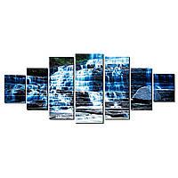 Модульные Светящиеся картины Startonight Удивительный водопад, 7 частей