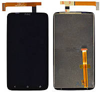 Дисплей (экран) для телефона HTC One X S720e G23, One XL X325 + Touchscreen Original Black