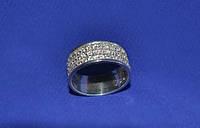 Кольцо из серебра 925 пробы с камнями