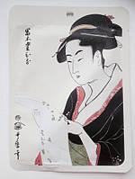 Японская маска для лица придающая сияние с Жемчугом и Цветками сакуры, MITOMO 1 штука
