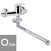 Смеситель для ванны длинный нос Qtap Eventi EURO (Chr-006)