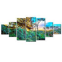 Модульные Светящиеся картины Startonight Тайны природы, 7 частей