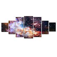 Модульные Светящиеся картины Startonight Удивительный Космос III, 7 частей