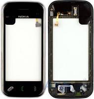 Сенсор (тачскрин) для Nokia N97 Mini with frame Original Black