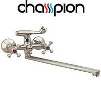 Смеситель для ванны длинный нос Champion Smes Euro SATIN (Chr-143)