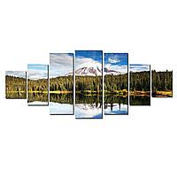 Модульные Светящиеся картины Startonight Горный пейзаж, 7 частей