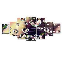 Модульные Светящиеся картины Startonight Капельками росы, 7 частей