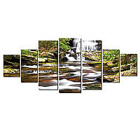 Модульные Светящиеся картины Startonight Водопад в лесу, 7 частей