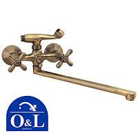 Смеситель для ванны длинный нос O&L DOMINOX Euro Product BRONZE (Chr-143)