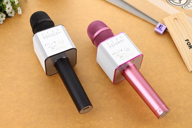 розовый микрофон караоке micgeek q9