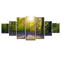 Модульные Светящиеся картины Startonight Лесная поляна, 7 частей