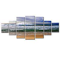 Модульные Светящиеся картины Startonight Волны океана , 7 частей