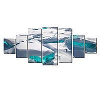 Модульные Светящиеся картины Startonight Ледник, 7 частей