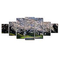 Модульные Светящиеся картины Startonight Аромат весны, 7 частей
