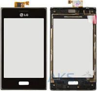 Сенсор (тачскрин) для LG Optimus L5 E610, Optimus L5 E612 with frame Original Black
