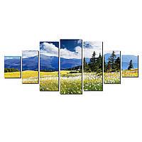 Модульные Светящиеся картины Startonight Горная поляна, 7 частей