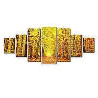 Модульные Светящиеся картины Startonight Осенний лес, 7 частей