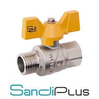 Sandi Forte Кран 3/4 ГШБ (гайка-штуцер бабочка) газ, Китай