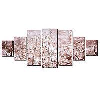Модульные Светящиеся картины Startonight Снег на ветках, 7 частей, фото 1