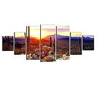 Модульные Светящиеся картины Startonight Аризонский ландшафт, 7 частей