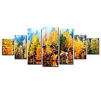 Модульные Светящиеся картины Startonight Осень на озере, 7 частей