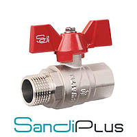 Sandi Forte Кран 3/4 ГШБ (гайка-штуцер бабочка) вода, Китай