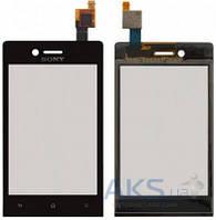 Сенсор (тачскрин) для Sony Xperia J ST26i Original Black