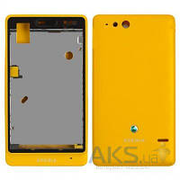 Корпус Sony ST27i Xperia Go Yellow
