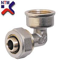 Угол с внутренней резьбой для Металлопластиковой трубы L20*3/4в (неразборной)