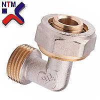 Угол с наружной резьбой для Металлопластиковой трубы L20*3/4Н (неразборной)