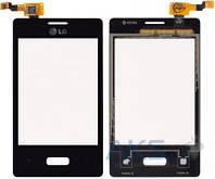Сенсор (тачскрин) для LG Optimus L3 E400 Original Black