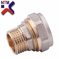 Муфта с наружной резьбой для Металлопластиковой трубы S26*3/4Н (неразборной)