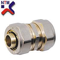 Муфта зажимная для Металлопластиковой трубы S20*20 (неразборной)