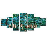 Модульные Светящиеся картины Startonight Хвойные деревья, 7 частей